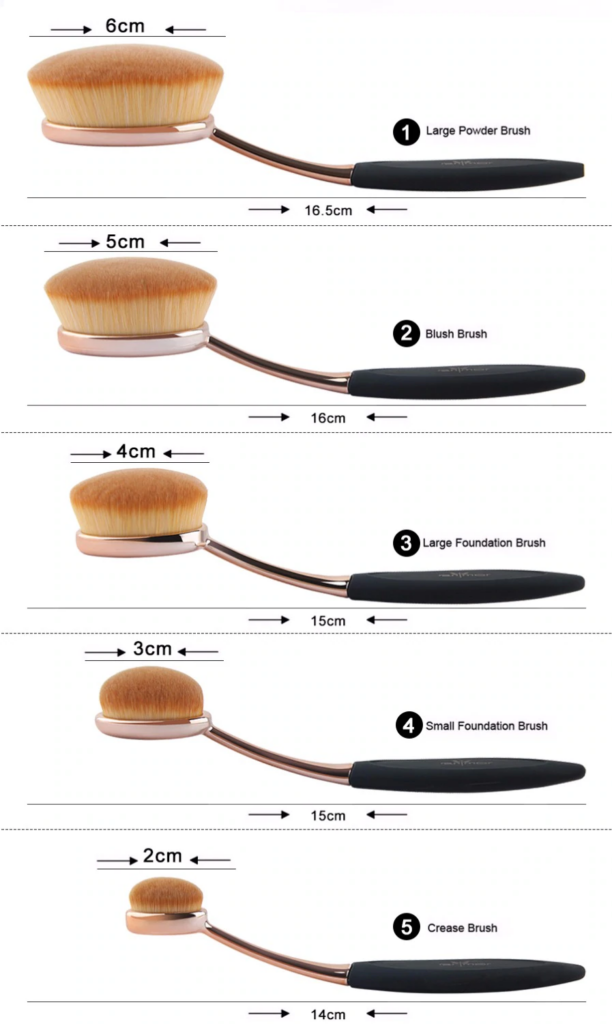 10 Piece Black Oval Brush Set 2 Beauty Junkie