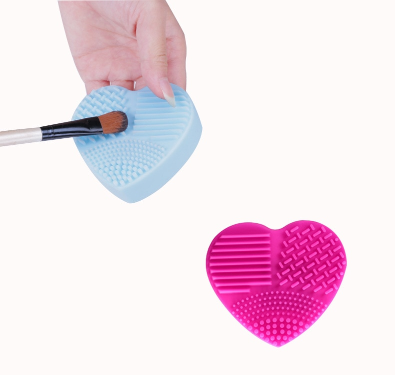 Heart Shape Silicone Brush Cleaner