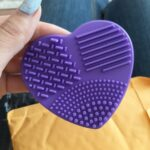 Heart Shape Silicone Brush Cleaner photo review