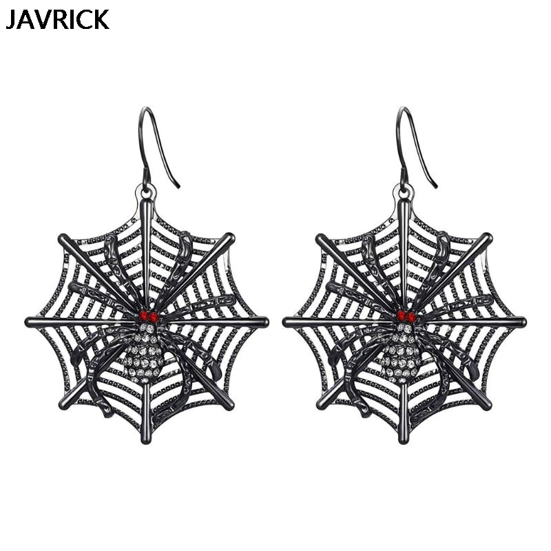 Black Spider Web Earrings