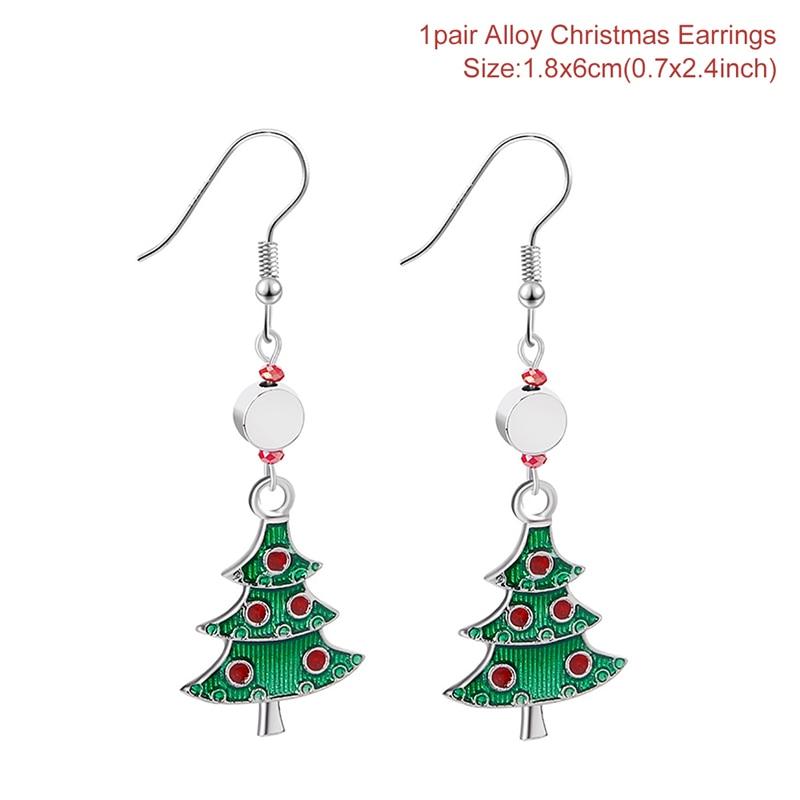Christmas Tree Cross Earrings