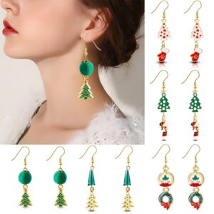 Christmas Tree Cross Earrings