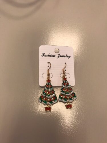 Christmas Tree Cross Earrings photo review