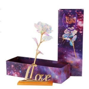 "24k ""Galaxy"" Gold Rose """