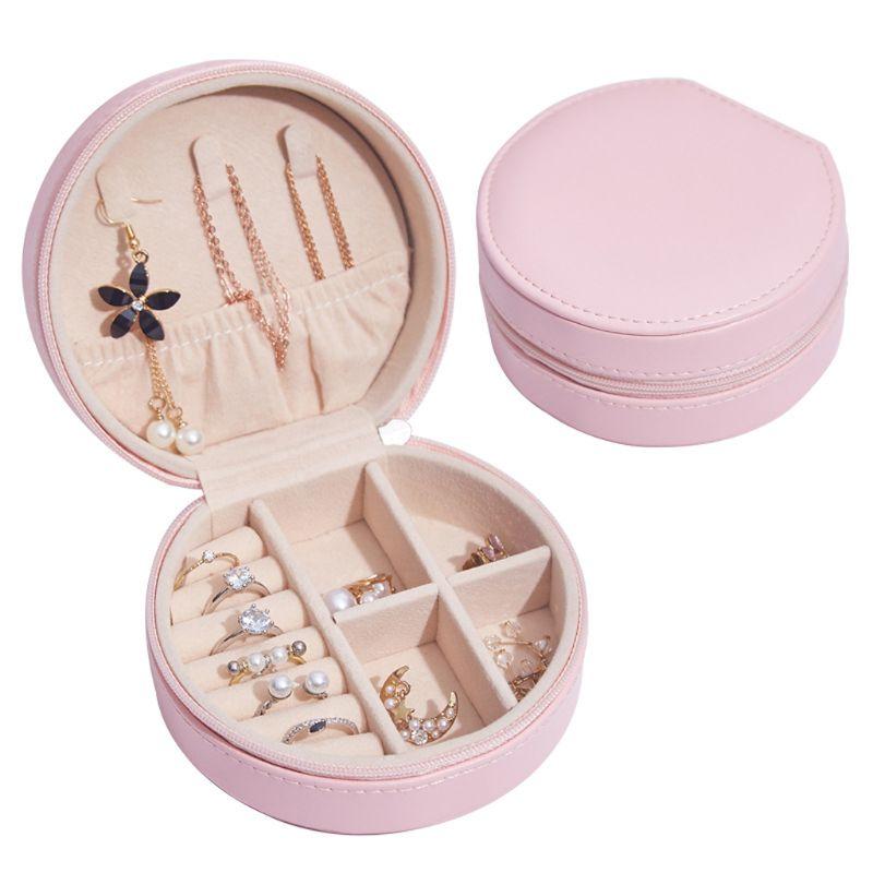 Circle Shaped Mini Jewelry Box