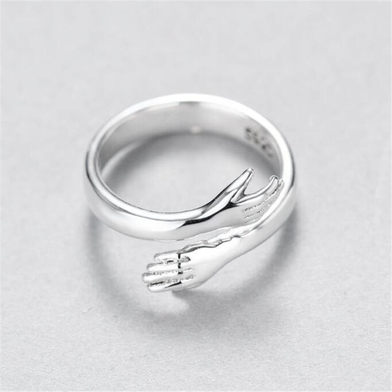 Creative Love Hug Silver Color Ring